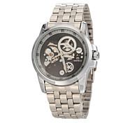 Men's Fashion Auto Mechanical Silver Steel Wrist Watch Cool Watch Unique Watch