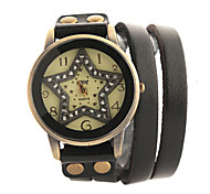 Watch Women Leather Band Rhinestone Vintage Quartz Analog Wrist Watch (Assorted Colors) Cool Watches Unique Watches