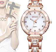 WEIQIN® Brand Luxury Women Watch Crystal Diamond Rhinestone Fashion Watches Rose Gold Quartz Dress Wristwatch