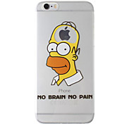 New Fashion 3D Cartoon Case TPU Back Cover for iPhone 6 Plus/6S Plus