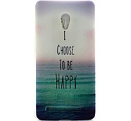For Asus Case Ultra-thin / Pattern Case Back Cover Case Word / Phrase Soft TPU ASUS