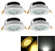 Luci a sospensione 7 LED ad alta intesità YouOKLight 7 W Decorativo 700 LM Bianco caldo / Luce fredda 4 pezzi AC 85-265 V