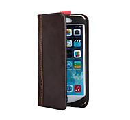 """style de livre 4.7 """"étui de protection en cuir PU pour 6s iphone - brun"""