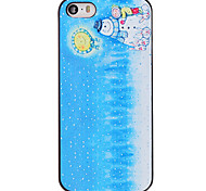 Christmas Style Kids with Snowman and Moon Pattern PC Hard Back Cover for iPhone 5/5S