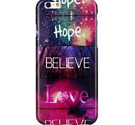 Esperamos lovepattern TPU caso capa Voltar para 6s iphone 6 / iphone