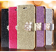 Glitter Diamond Leather Cell Phone Case Card Slot Wallet Back Cases For iPhone 6 Plus(Assorted Color)