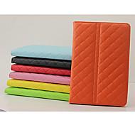 spezielle Design Gittermuster PU-Leder Ganzkörper-Fall mit Ständer für iPad Mini 3/2/1 (verschiedene Farben)