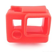 Soft Rubber Silicone Protective Housing Case Silicone Cover Protector Skin for Gopro Hero4 Hero3+  (Red)