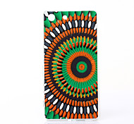 Colorful Flower Pattern TPU Soft Case for Sony Xperia M5
