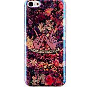 motif floral blu-ray de cas de téléphone portable de l'IMD pour iPhone 5c