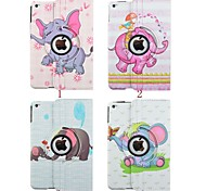 7.9 Inch Elephant Pattern 360 Degree Rotation PU Leather Case for iPad Mini 4(Assorted Colors)