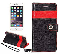 Color Matching Top Luxury Real Leather Case Wallet Stand Card Holder Sleeve Cover Bag For iPhone 6 Plus(Assorted Color)