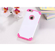 For iPhone 7 Plastic and Silicone Material Double Color Design for iPhone 6/6S