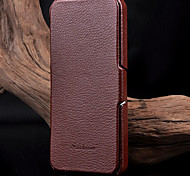 Genuine Leather Litchi Pattern Phone Protective Shell for iPhone 5/5S