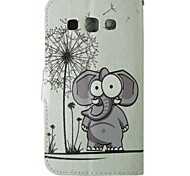 Cartoon Elephant PU Leather Full Body Case For Samsung Galaxy Grand Neo I9060/CORE Prime/Grand Prime/Galaxy Grand