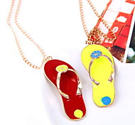 Pop Jewelry Slippers Pendant Long Sweater Necklace