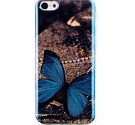 Butterfly Pattern Blu-ray  IMD Cell Phone Case for  iPhone 5C