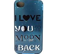 2-in-1 Rückkehr zum Mond-Muster-TPU rückseitige Abdeckung + pc Autostoßfest Hülle für iPhone 4 / 4S