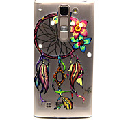Dreamcatcher Pattern TPU Relief Back Cover Case for  LG Spirit H440N/H422