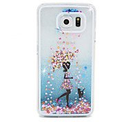 Girls Flow Sand PC Material Cell Phone Case for Samsung Galaxy S6/S6 edge