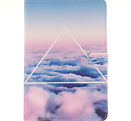 de lucht wolk pu lederen full body case met standaard en kaartslot voor Galaxy Tab s2 8,0 T715 / galaxy tab s2 9.7t815