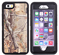 Branch Camouflage Shockproof Case W/ Build-in Screen Protector for iPhone 6/6S 4.7 inches Plastic + TPU Cover With