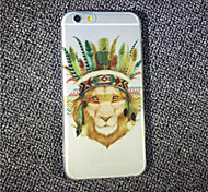 MAYCARI® The Lion Being a Tribal Chief Transparent Soft TPU Back Case for iPhone 6/iphone 6S