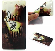 I Can And I Will Words Phrase Pattern 0.6mm Ultra-Thin Soft Case for Sony M5
