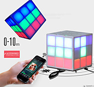 Mini  CUBE Bluetooth Speaker Stereo LED Flashing Light Hands-free Speaker with TF Card Slot for  for iphone 6S Samsung