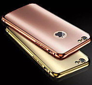 For iPhone 6 Case / iPhone 6 Plus Case Plating Case Back Cover Case Solid Color Hard Metal iPhone 6s Plus/6 Plus / iPhone 6s/6