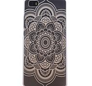 patrón de flores ronda caja del teléfono transparente esmerilado material de la PC de células para Huawei p8 Lite