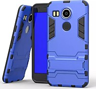 Plastic and TPU 2 in 1 Case Cover with Stand Armor Back Case Shockproof for LG Nexus 5