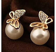 Women's fashion golden butterfly earrings