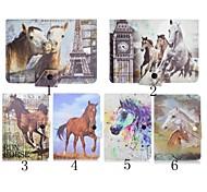 cuoio dell'unità di elaborazione del modello del cavallo di alta qualità con il caso del basamento per 7 pollici tablet universale