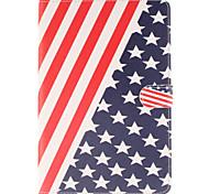 die amerikanische Flagge PU-Leder Ganzkörper-Fall mit Standplatz und Kartensteckplatz für Galaxy Tab s2 8.0 T715 / Galaxy Tab s2 9.7t815