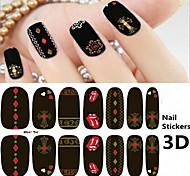 4pcs 3D Fashion Nail Stickers Random Color