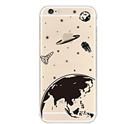 Apple Logo Space Pattern TPU Soft Case for iPhone 6/6S