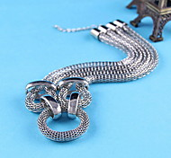 Pendant Silver Thick Chain Necklace Sweater Chain Jewelry