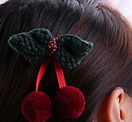 YW Sweet cherry Barrettes(4 bow Colors)