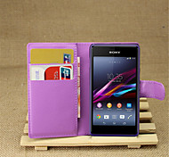 Fashion Leather Dirt-resistant Flip Wallet Cover Case For Sony Xperia E1 Capa Phone Case