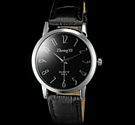 Men's Casual PU Strap Quartz Wrist Watch