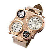 Watches Men Sports Calendar Watch Dual Movement Compass Wrist Watch Relogio Masculino Quartz Watch (Assorted Colors)