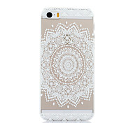 White Flowers Pattern PC Material Phone Case for iPhone 5C