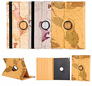 World Map 360⁰ Case Design Stand Function High Quality PU Leather Bag For iPad 4/3/2