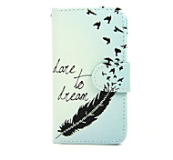 For Nokia Case Wallet / Card Holder / with Stand Case Full Body Case Feathers Hard PU Leather Nokia Nokia Lumia 630