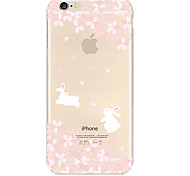 Rabbit Run Pattern TPU Material Soft Phone Case for iPhone 6/6S