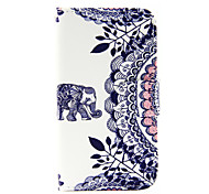 patrón del elefante pu funda de teléfono de cuero para Samsung Galaxy J1 (2016) / J5 Galaxy (2016)