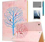 lexy® volendo albero modello pu caso del basamento del cuoio di vibrazione con la protezione dello schermo e lo stilo per ipad aria / ipad