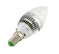 3W E14 Luci LED a candela C35 3 LED ad alta intesità 260 lm Bianco caldo / Luce fredda Decorativo AC 220-240 / AC 110-130 V 1 pezzo