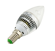 YouOKLight® 1PCS E14 3W 260lm 3000/6000K 3-High Power LED bola Candle light Shaped Lamp (AC110-120/220-240V)